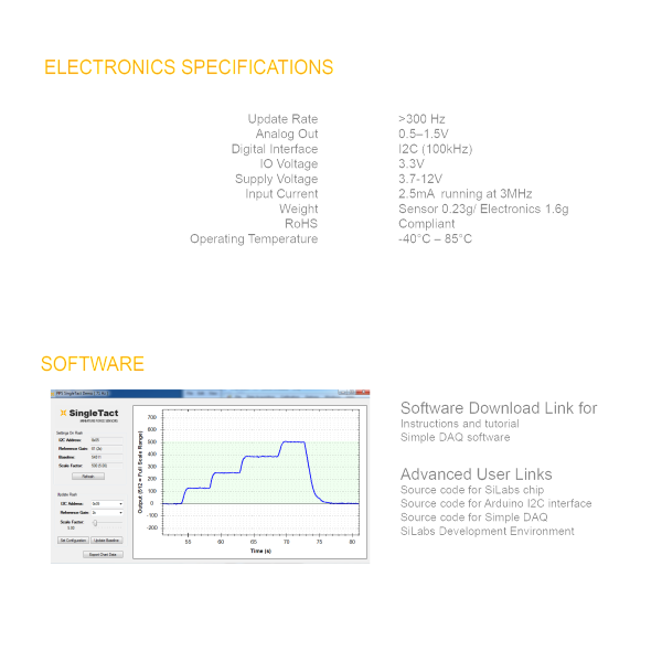 Electronics Specs - Arduino and DAQ Software